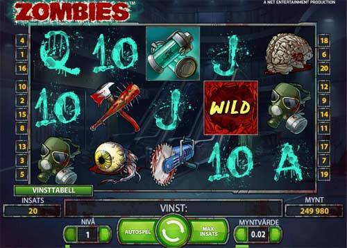 Zombies slot free play demo