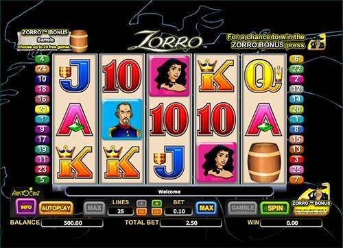 zorro slot free online game
