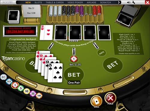 online roulette casino caribbean stud
