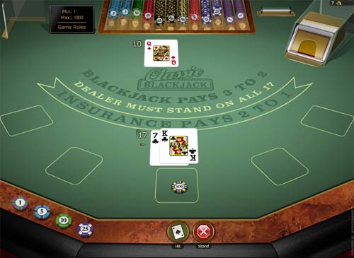 blackjack games online free