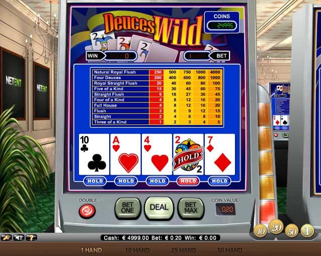free deuces wild poker games