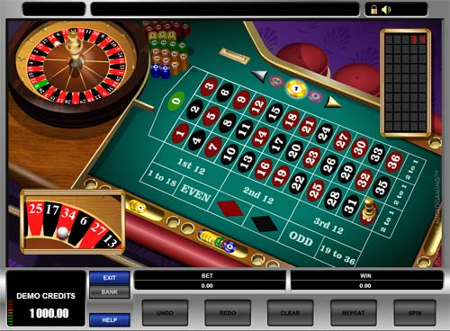 European Roulette screenshot