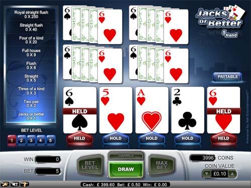 Poker hands equity