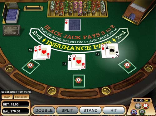 Single deck blackjack casinos