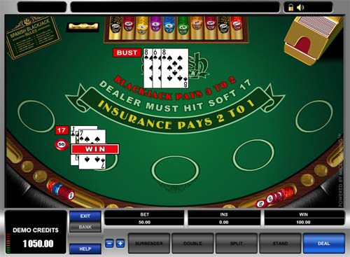 free spanish 21 black jack game online