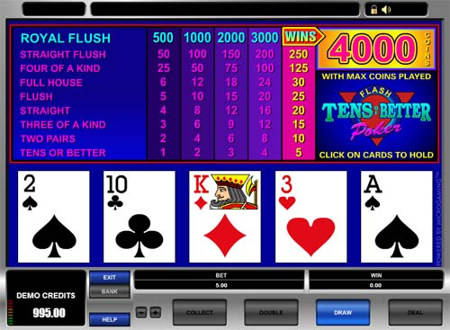 Tens or Better Video Poker - Microgaming - Rizk Casino pГҐ Nett